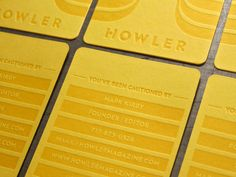 Howler Business Card by Priest + Grace