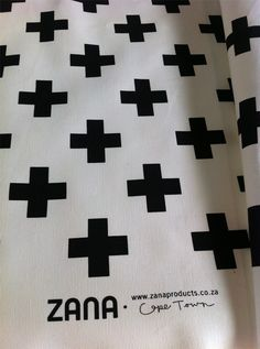 Zana Swiss Cross Fabric Repeat Pattern - Made in Cape Town