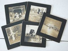 5 different PHOTOS on cardboard with Frame