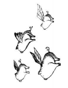 Flying pigs because they make me smile on pinterest 322 pins for Flying pig coloring pages