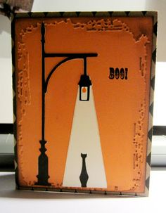 A Little Bit of Bling: Boo! card using the A Frightful Affair cartridge #Cricut