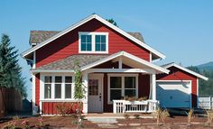 open framing white light porch design:  Sandpoint Efficient Cottage by Selle Valley Construction, Inc.Click To Enlarge
