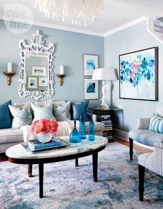 blue living room | Lindsay Mens Craig