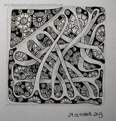 One Tangle : Day One Hundred and Twelve ~ #CZT Jane Monk