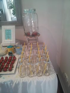 yellow and blue babyshower | CatchMyParty.com