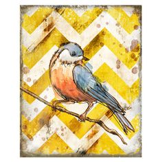 I pinned this Bird On Branch Wall Art I from the Walls of Whimsy event at Joss and Main!