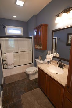 Rich wood tones #bathroom