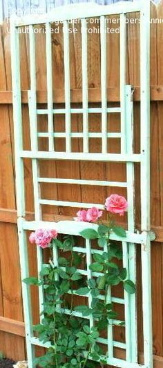 a crib becomes a trellis. #repurposed