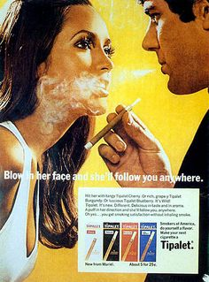 vintage cigarette ad, i dont know a better way to woo a woman
