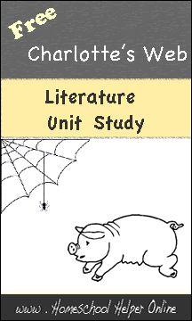 Free Charlotte's Web Literature Unit Study