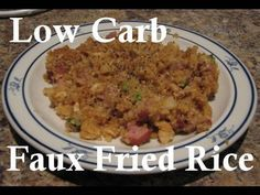 """Atkins Diet Recipes: Low Carb Faux Fried """"Rice"""" (IF)"""