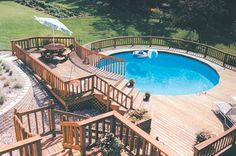Above Ground Swimming Pools - Above Ground Swimming Pools Pros and ... - above ground swimming pool landscaping ideas pics
