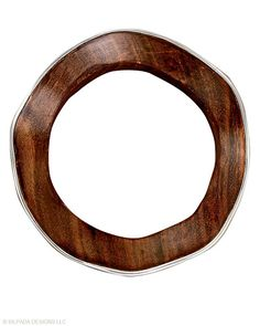 The #sophisticated #silhouette of this #wavy #Rosewood and #Sterling #Silver #Bangle breaks the mold. #Silpada #Jewelry