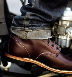 Board of the best Men's #Fashion and #Style. Take a look of these look ideas i separated for you. Also visit www.RoyalFashionist.com for more info. fashion shoes, style, men stuff, red wing, guy fashion, men fashion, men's footwear, men shoes, brown boots