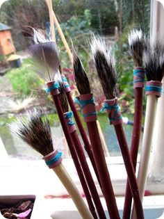 Homemade Paint Brushes!