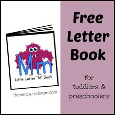 FREE letter M book - familiar rhymes and songs for toddlers and preschoolers