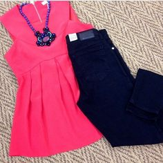 Crimson Poppy top from Annie Griffin's resort '14 collection - great outfit idea from Charlotte's in Raleigh!
