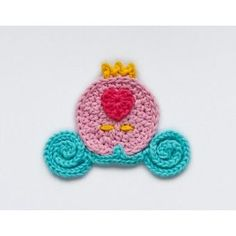 Cinderella Carriage Applique Crochet.