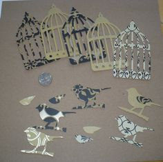 Tim Holtz Tattered Caged Bird Die Cuts by sandylynnbscrapping, $1.50