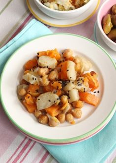 17. Roasted Jerusalem Artichokes With Sweet Potato, Onions, and Za'atar