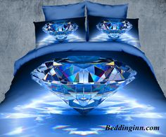 #diamond #3d #beddingset  Buy link-->http://goo.gl/4ROIJ8 Discover more-->http://goo.gl/R7QpMq Live a better life,start with @beddinginn http://www.beddinginn.com/product/Luxury-Big-Blue-Diamond-Print-4-Piece-Polyester-3D-Duvet-Cover-Sets-10954374.html