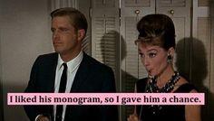 I liked his monogram, so I gave him a chance. TSM.