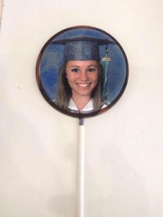 Graduation Gift Idea! Edible Chocolate Pop with a picture! www.freshandtastytreats.com