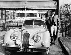 Tyrone Power & his Jaguar