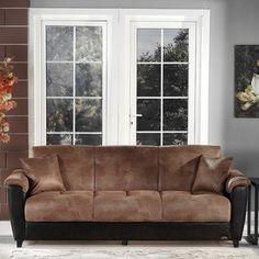 Aspen Three Seat Sleeper Sofa in Mocha- Istikbal (LOVE this!)