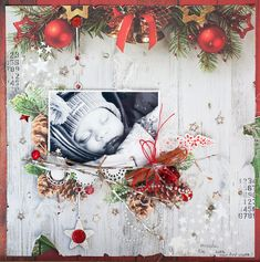 Basecoat Christmas ScrapTherapy by Evgenia Petzer: Finalist Entry Kaisercraft DT 2014/15