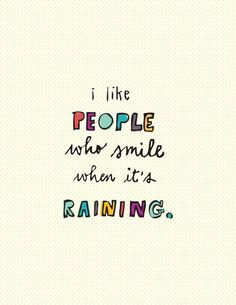 people who smile.