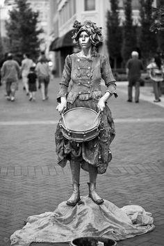 Silver drummer girl - Asheville