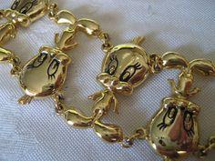VINTAGE Warner Bros. Tweety Bird Metal Costume Jewelry Bracelet.