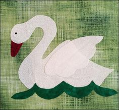 Do You See…? Block Of The Week 15 Single Swan A Swimming