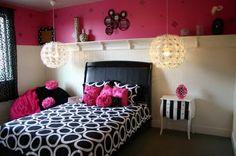 Love the lamps, little girl room