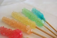 homemade rock candy-great idea for parties