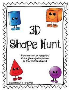 FREE!  3D Shape Hunt
