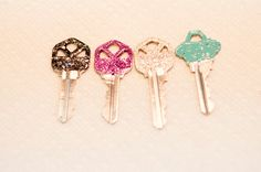 Glitter keys! Pretty, fun and functional.