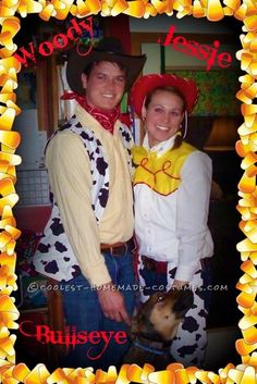 Coolest Woody and Jessie Couple Costume WITH Bullseye