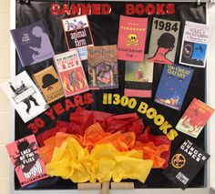 Banned Books week is coming up this September! What is your favorite banned book? librari bulletin, booksi hope, ban booksi, 30 year, bulletin boards, book week, read ban, blog, amaz display