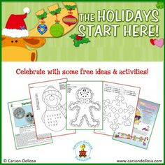 We've got TONS of free ideas & activities to keep little hands busy while you get ready for the holidays!
