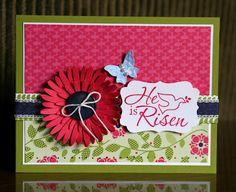 Stampin' Up!  Easter Dove  Krystal De Leeuw  He Is Risen