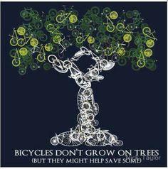 Get a #bike... help save trees