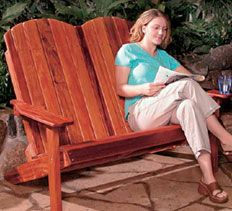 Build a two-person Adirondack chair that folds up for easy storage.
