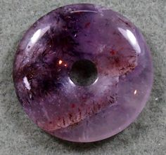 AURALITE23 Crystal   Donut  Life Saver Pendant by MineralKingdom, $22.00