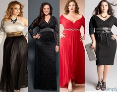 Elegantes vestidos para tallas grandes red, cocktail parties, bridesmaid dresses, the bride, plus size fashions, gown, plus size outfits, sleeves, plus size women