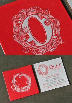 olli salumeria, card designs, business cards, typographi busi, business card design, busi card, beauti typographi, bold colors, print