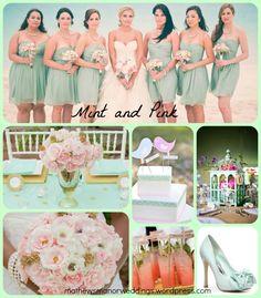 Summer Wedding Color Trends – Pink and Mint – Springville Alabama Wedding Venue | Mathews Manor