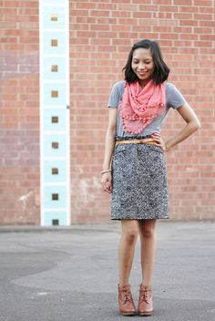 skirt and scarf outfit