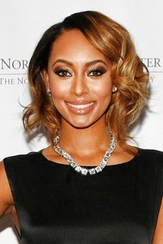 Keri Hilson flaunted shiny, golden curls that framed her face beautifully at the Norman Mailer Center's 4th annual Benefit Gala in New York City.